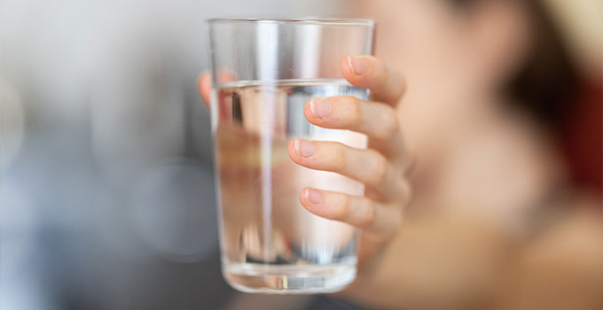pure UV filtered water